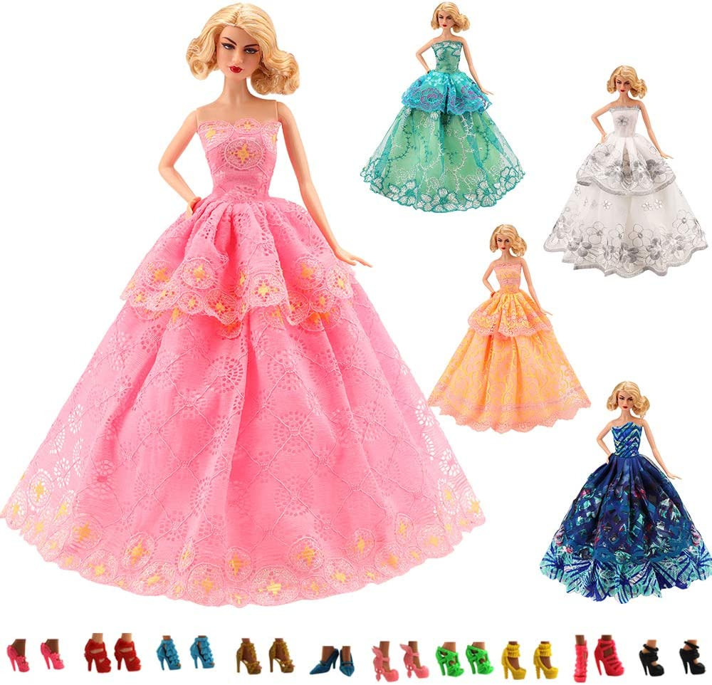 Charlotte Mall BARWA 15 Items 5 Pcs Fashion Dresses Party Clothes Factory outlet Wedding with