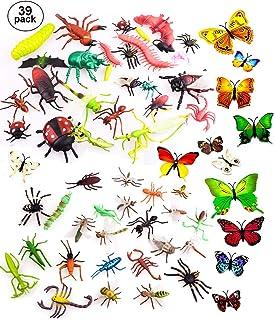 comprar comparacion OOTSR 39pcs Insectos e Insectos de plástico para niños, Figuras de Insectos Juguetes con Pegatina de Pared Colorida Maripo...