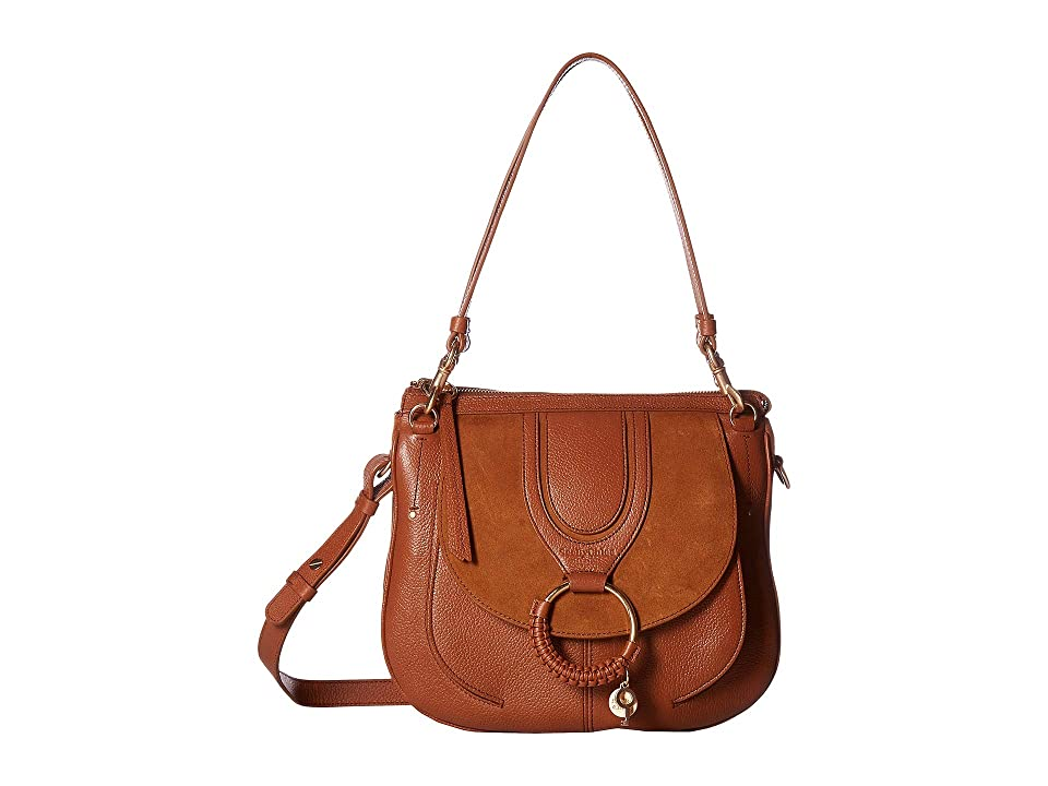 See by Chloe Hana Suede Leather Tote (Caramello) Tote Handbags