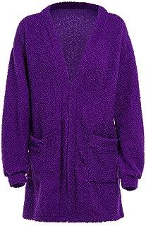 Womens Sweaters,Tops for Women Loose Winter Warm Wool Pocket Cardigan Coat Oversized Outwear Jacket