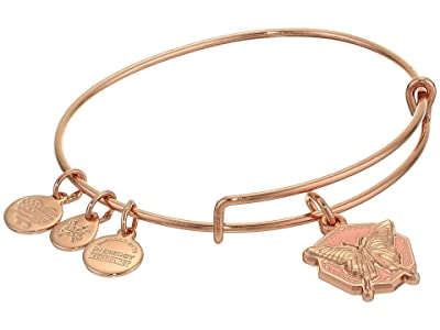 Alex and Ani Color Infusion Bangle Bracelet (Rose Gold/Butterfly) Bracelet