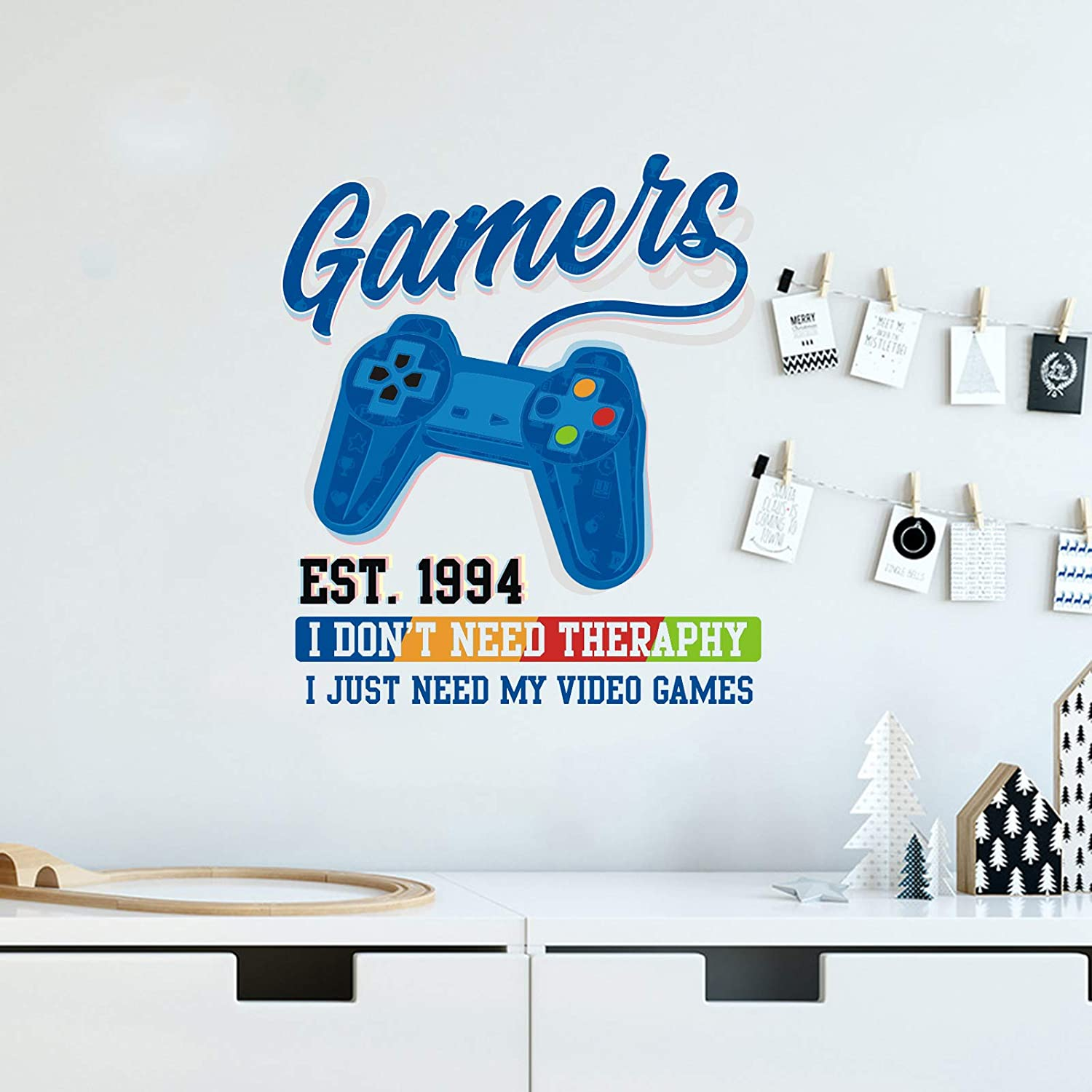 Gamer Wall quality Large special price !! assurance Decals Game Controller Stickers Kids for C Room