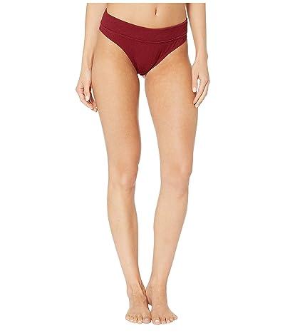 Rip Curl Premium Surf High-Waist Bikini Bottom (Dark Red) Women