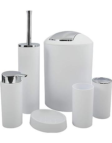 ATYBO Home Bagno Bicchieri Lavaggio Portaspazzolino Portasapone Accessorio per Il Bagno Bicchiere in Vetro B.