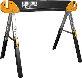 ToughBuilt - Folding Sawhorse/Jobsite Table - Sturdy, Durable, Lightweight, Heavy-Duty, 100% High Grade Steel, 1300lb Capa...