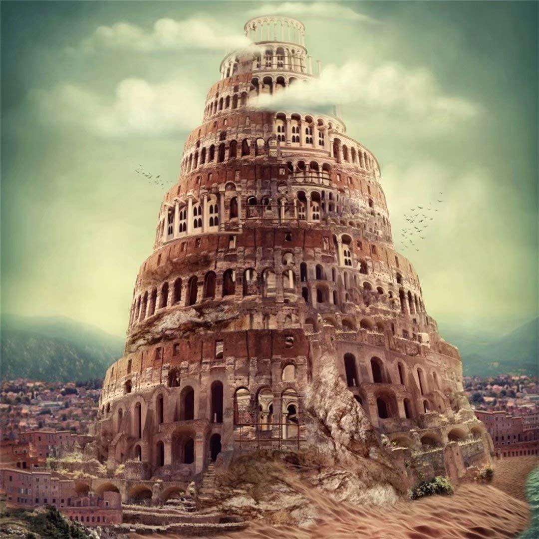 fashion brands : OFILA Tower of Babel Background 6x6ft Historic ...