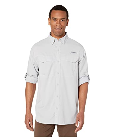 Columbia Low Drag Offshore Long Sleeve Shirt (Cool Grey/White) Men