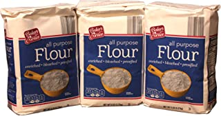 Lot of 3 Bakers Corner All Purpose Baking Flour 3-5lb Bag - 15 Pound