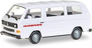 herpa 094658 VW Bus T3 Interflug, Miniature Vehicle for retouching and Collection