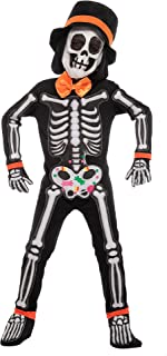 Spooktacular Creations Cute Kids Skeleton Costume with Funny Hat for Boys 3 to 10 Years Old