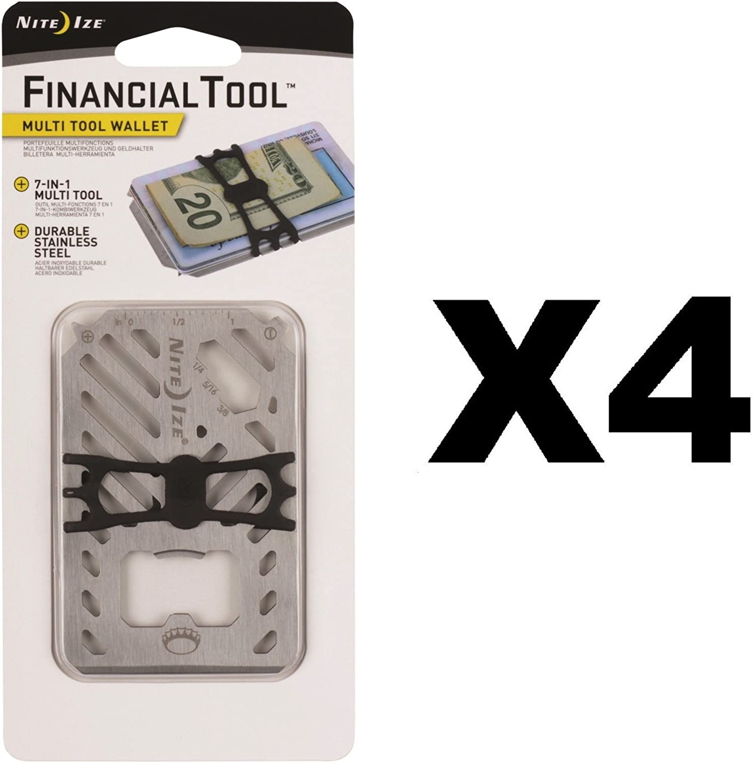 Miami Mall Nite Ize Financial Tool Stainless Credit 7-in-1 Card Multi Limited time trial price Size