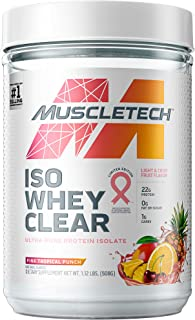 Whey Protein Powder | MuscleTech Clear Whey Protein Isolate | Whey Isolate Protein Powder for Women & Men | Clear Protein ...