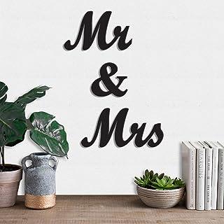 Art Street MDF Wood Sign Mr & MrsWall Plaque, Wood Sign Wall Decoratives