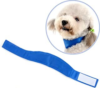 Ranphy Dog Cooling Collar for Summer,Non-Toxic Gel Ice Bandana, Comfortable Cooling Neck Wrap,Adjustable Chill Out Scarf, Relieves Heat Stress Fit for Small Medium Large Dogs