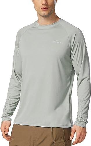 BALEAF Men's Long Sleeve Shirts Lightweight UPF 50+ Sun Protection SPF T-Shirts Fishing Hiking Running