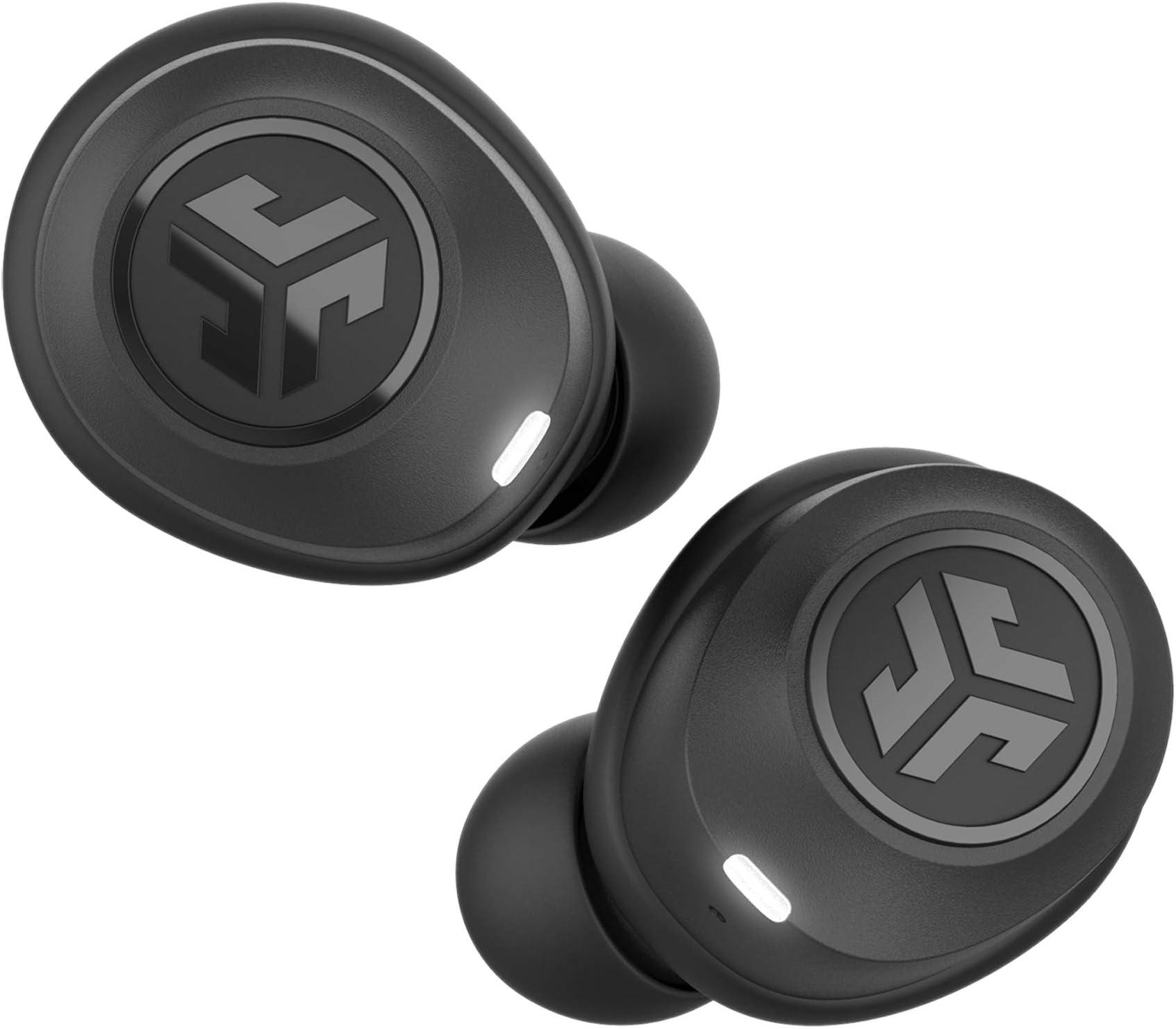 JLab Audio JBuds Air True Wireless Signature Bluetooth Earbuds + Charging Case - Black - IP55 Sweat Resistance - Bluetooth 5.0 Connection - 3 EQ Sound Settings: JLab Signature, Balanced, Bass Boost