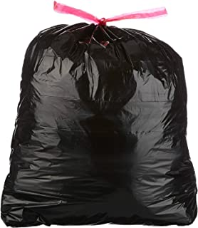 Wuyue Hua 26GAL Drawstring Bin Liner Refuse Sacks Waste garbage rubbish bags black 98.4L 71.1X81.5CM 13counts