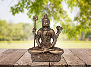 Idol Collections Dattatreya a Sitting with 4 Arms & Tripple Mala Showpiece - 3.45 Inch (Bonded Bronze,Multi-Colour) (Smal...