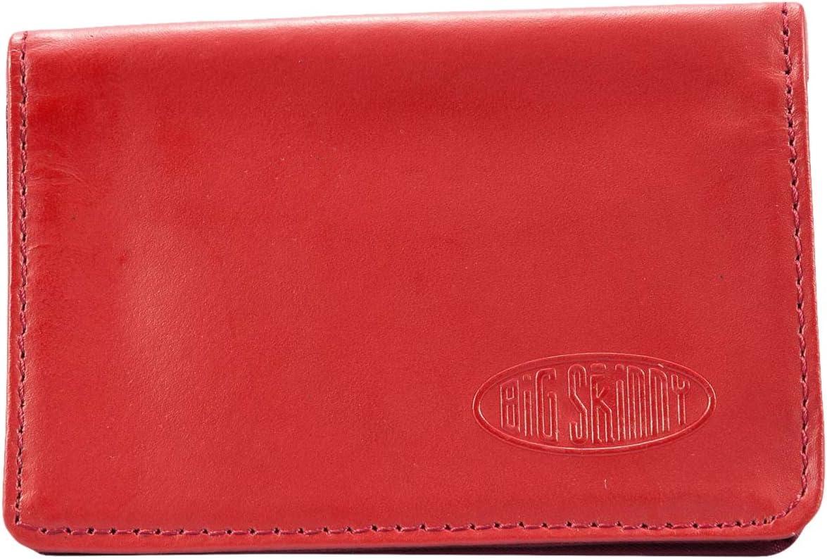 Big Skinny Card Holder Leather Slim Wallet, Holds Up to 25 Cards