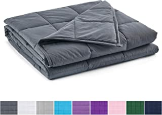 RelaxBlanket Weighted Blanket   60''x80'',15lbs   for Individual Between 140-170 lbs   Premium Cotton Material with Glass Beads   Dark Grey