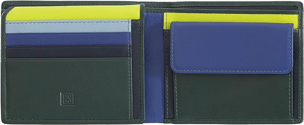 Dudu portafoglio porta carte di credito con protezione anticlonazione multicolore in pelle per uomo 8031847173871
