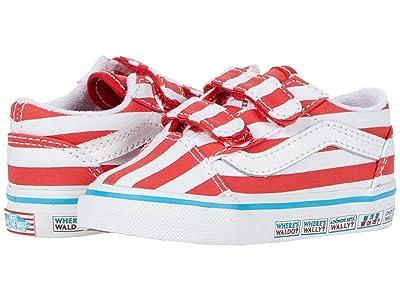 Vans Kids Old Skool V (Infant/Toddler) ((Wheres Waldo?) International/Stripes) Kids Shoes