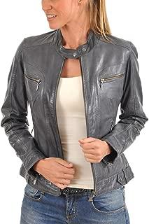 Women's Lambskin Leather Bomber Biker Jacket