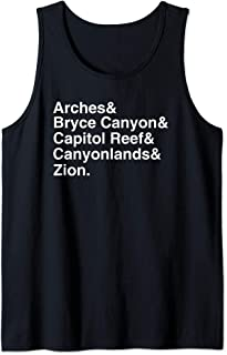 Utah National Parks Gift Mighty 5 Zion Bryce Arches Tank Top