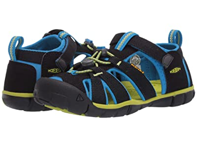 KEEN Kids Seacamp II CNX (Little Kid/Big Kid) (Black/Brilliant Blue) Kids Shoes