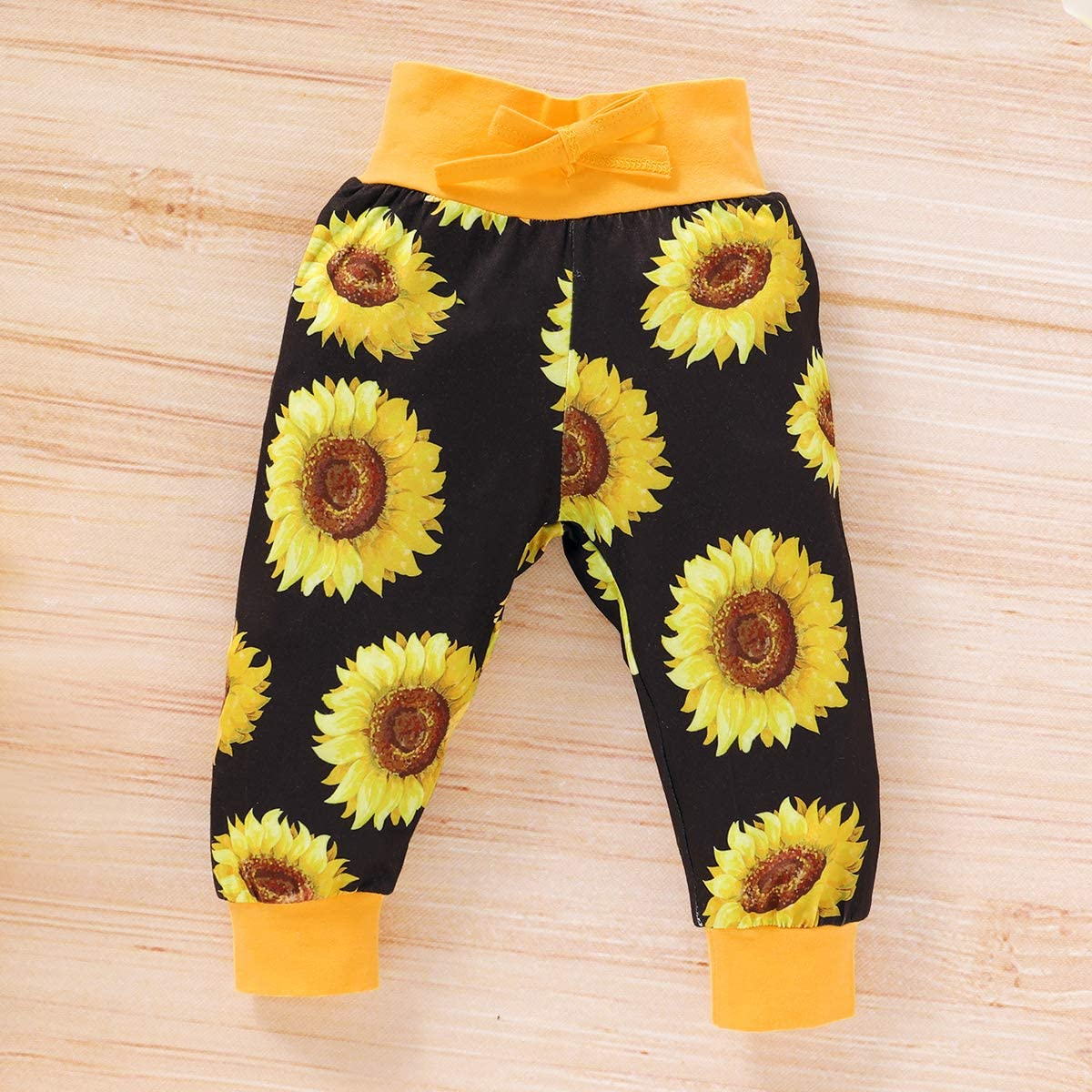 Baby Girls Newborn 3PCS Clothes Long Sleeve Top Flower T Shirt Pants Headband Infant Outfit Clothing Sets