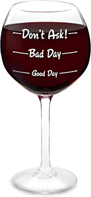 BigMouth Inc How was Your Day? Wine Glass, Wine Lovers, Novelty Wine Glass