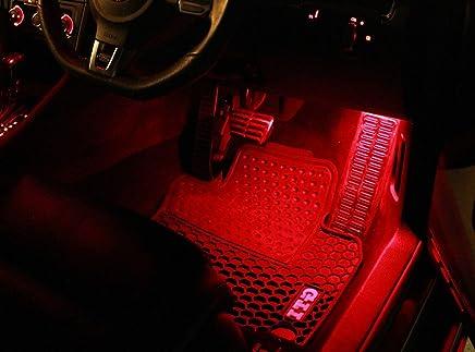 Luces de los pies rojos SMD LED adecuado para Seat Ibiza 6L Leon 1P 1M blanco