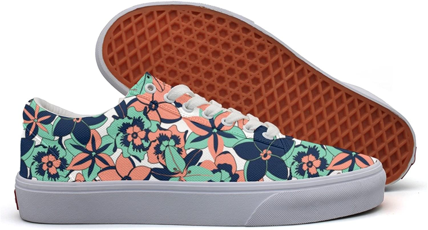 Tropical color Flowers Women's Casual Sneakers shoes Canvas Athletic New Simple