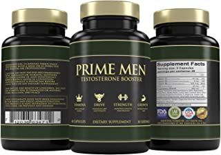 Natural Testosterone Booster For Energy, Fat Loss, Strength *100% Prime Quality* Healthy Weight Loss and Endurance