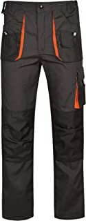 03702e65100 DINOZAVR Atlas Pantalones de Trabajo Estilo Cargo para Hombre - Resistentes  - Gris Oscuro/Negro
