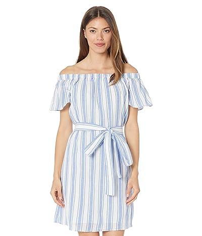 MICHAEL Michael Kors Stripe Off-Shoulder Dress Women