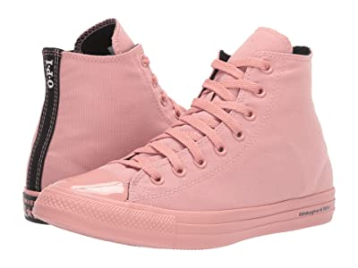 Converse Chuck Taylor All Star OPI Nail Polish Hi (Rust Pink/Rust Pink/Black) Lace up casual Shoes