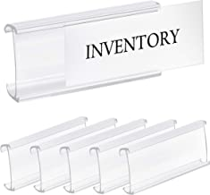 Pack of 25 – Clear Butyrate Plastic Wire Shelf Label Holder, Sign and Ticket Holder, (Fits Metro and Nexel 1-1/4