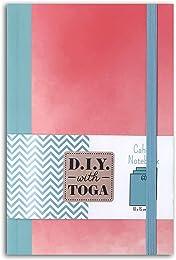 D.I.Y with Toga Carnet Bicolore, Papier, Rose et B