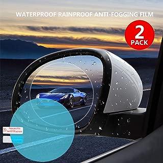 Car Rearview Waterproof Film,Mirrors Rainproof,Anti Fog Anti-Fogging,Anti-Mist Anti-Dazzle,Anti-Glare Side Mirror Window Protector Film,Car Mirror Accessories(2PCS)