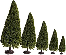 DIY Mixed Model Trees with Base Scenery Models 5 Pack Pine Different Size Artificial Trees Train Scenery Architecture Tree Ho Scale Trees Miniature Trees with Bases Metal and Plastic by LLAMEVOL