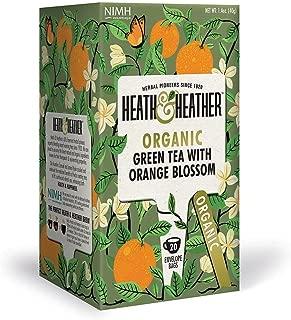 Organic Green Tea with Orange Blossom| 20 bags per Pack| 100% USDA Certified Organic| Natural Orange Blossom Flavoring With No Additives/ Sugar| Vegan, Vegetarian, Allergen-Free, Kosher Chai