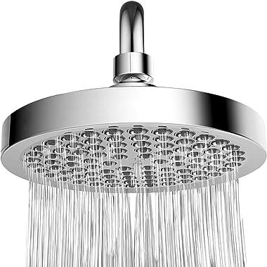 High Pressure Six Inch Chrome Appearance Filter Shower Head - Rainfall Design Bathroom Fixtures for Waterfall Flow E