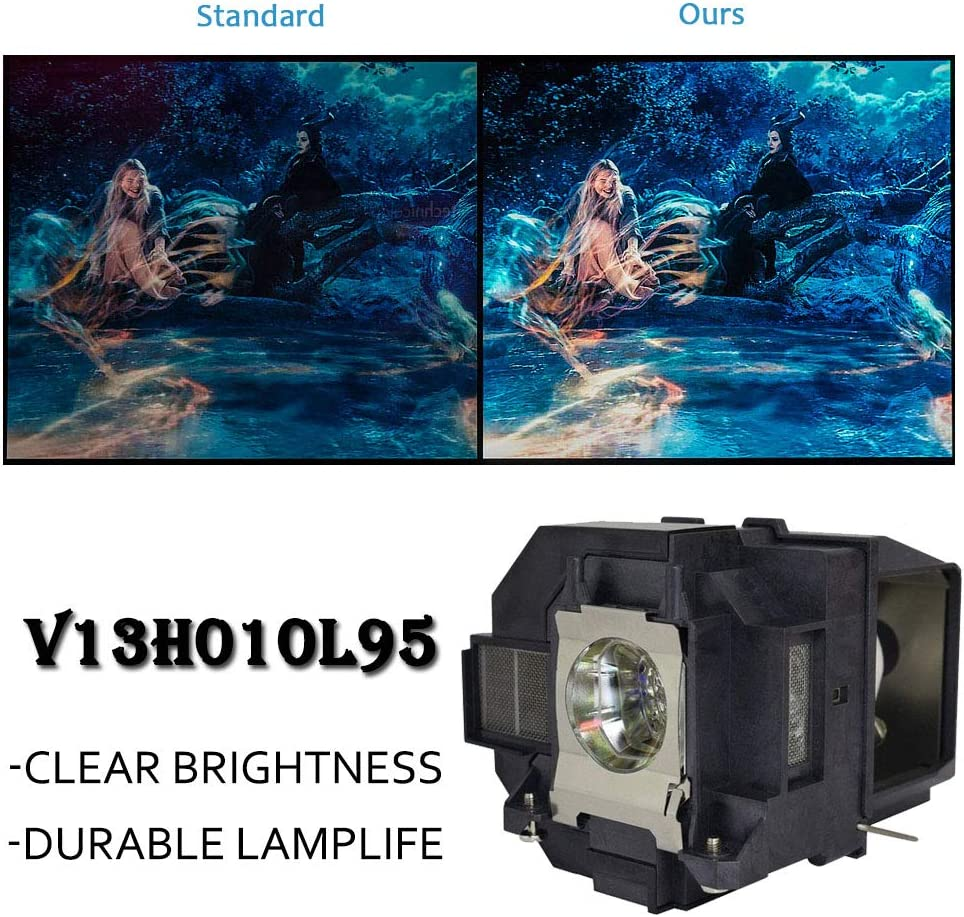 LOUTOC Projector Lamp Bulb V13H010L95 for Epson ELPLP95 EB-2055 EB-2065 EB-2155 EB-2155W EB-2165W EB-2245U EB-2250 EB-2250U EB-2255U EB-2265U EB-5510