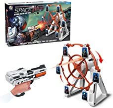 heytech Targetsfor Shooting Games Includes ElectronicRotating Target, 1 Blaster for Nerf and 12 Foam Darts-Compatible Toy Guns for Boys or Girls