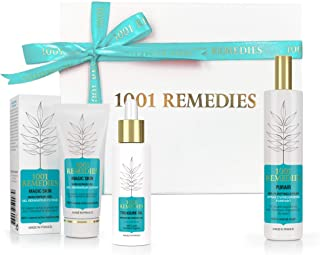 1001 Remedies Vegan Bath Gift Set - Made in France, Organic Spa Gift Sets for Women with a Face Serum for Clear Skin, Pure...