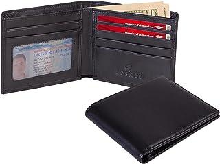 Lositto RFID کیف پول بالای چرم دانه را برای مردان مسدود کرده است - بسیار عالی به عنوان سفر Bifold