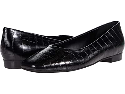 Trotters Honor (Black Croco Leather) Women