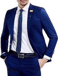 Solovedress Men's 2 Pieces Blazer Business Mens Suit Groom Tuxedos for Wedding
