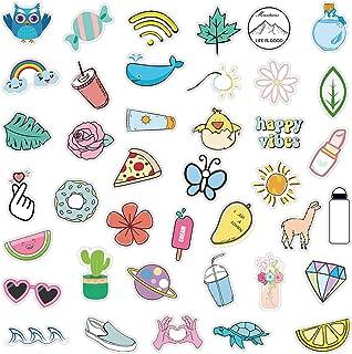 VSCO Stickers for Hydro Flask, Cute Trendy Vinyl Waterproof Water Bottle Stickers, Laptop, Phone, Aesthetic Stickers for Teens, Girls, VSCO Girl Stuff 50Pcs